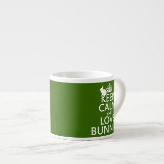 Guarde la calma y ame los conejitos - todos los co taza espresso