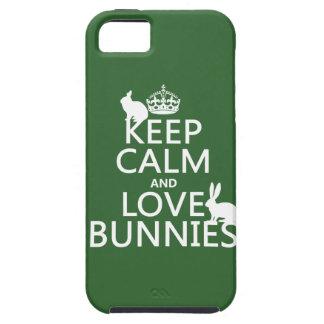 Guarde la calma y ame los conejitos - todos los iPhone 5 carcasa