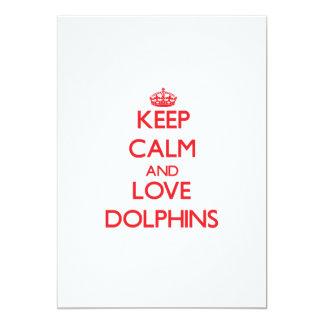 Guarde la calma y ame los delfínes comunicado personal