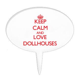 Guarde la calma y ame los Dollhouses Decoraciones De Tartas