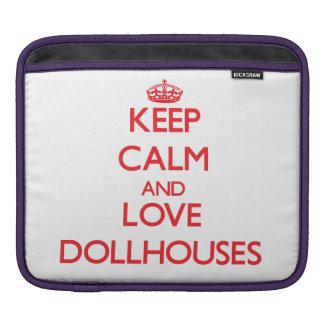 Guarde la calma y ame los Dollhouses Fundas Para iPads
