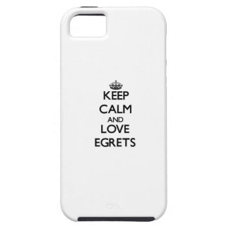 Guarde la calma y ame los Egrets iPhone 5 Fundas