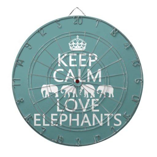 Guarde la calma y ame los elefantes (los colores a
