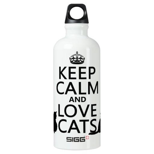 Guarde la calma y ame los gatos
