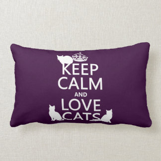 Guarde la calma y ame los gatos (en cualquier colo cojín