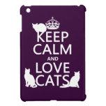 Guarde la calma y ame los gatos (en cualquier colo iPad mini coberturas