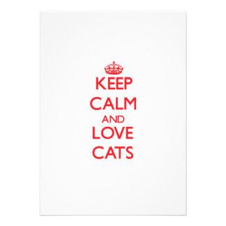 Guarde la calma y ame los gatos comunicados personales