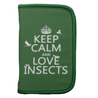 Guarde la calma y ame los insectos (cualquier colo planificador