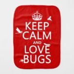 Guarde la calma y ame los insectos (cualquier paños para bebé