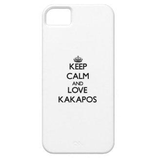 Guarde la calma y ame los Kakapos iPhone 5 Carcasas