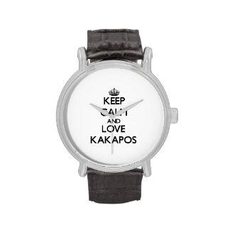 Guarde la calma y ame los Kakapos