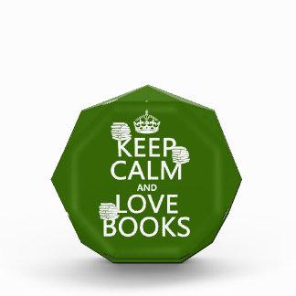 Guarde la calma y ame los libros (en cualquier col
