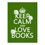 Guarde la calma y ame los libros (en cualquier anuncio