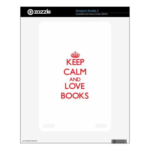 Guarde la calma y ame los libros kindle 2 skins