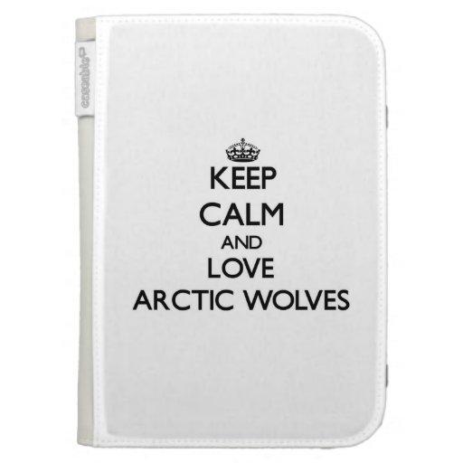 Guarde la calma y ame los lobos árticos