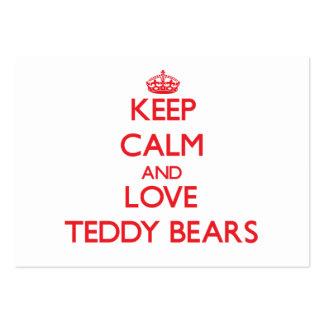 Guarde la calma y ame los osos de peluche plantillas de tarjetas personales