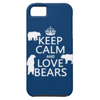 Guarde la calma y ame los osos en todos los color iPhone 5 Case-Mate cárcasa