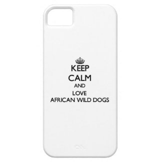 Guarde la calma y ame los perros salvajes iPhone 5 fundas