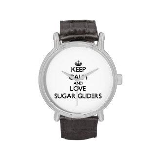 Guarde la calma y ame los planeadores del azúcar relojes