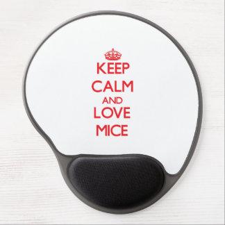 Guarde la calma y ame los ratones alfombrillas de raton con gel