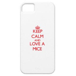 Guarde la calma y ame los ratones iPhone 5 protector