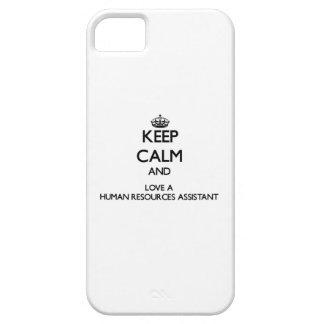 Guarde la calma y ame los recursos humanos iPhone 5 Case-Mate protector