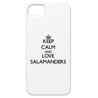 Guarde la calma y ame los Salamanders iPhone 5 Coberturas