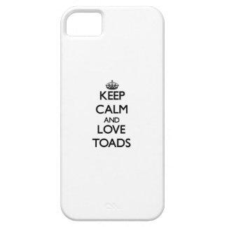 Guarde la calma y ame los sapos iPhone 5 carcasa