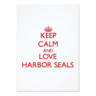 Guarde la calma y ame los sellos de puerto comunicados personalizados