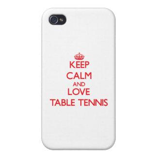 Guarde la calma y ame los tenis de mesa iPhone 4 cobertura