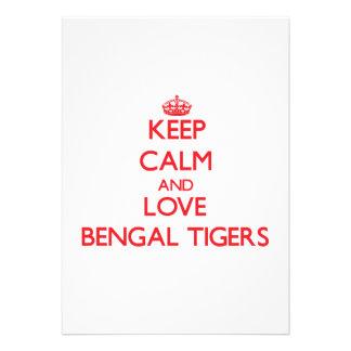 Guarde la calma y ame los tigres de Bengala Comunicado