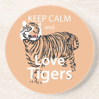 Guarde la calma y ame los tigres posavasos manualidades
