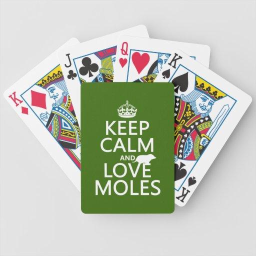 Guarde la calma y ame los topos (cualquier color d barajas