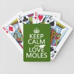 Guarde la calma y ame los topos (cualquier color d baraja cartas de poker