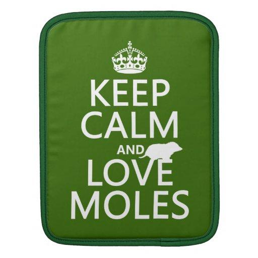 Guarde la calma y ame los topos (cualquier color d funda para iPads