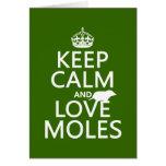 Guarde la calma y ame los topos (cualquier color d felicitacion
