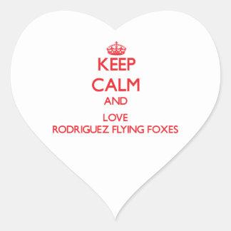 Guarde la calma y ame los zorros de vuelo de Rodri Etiquetas