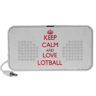 Guarde la calma y ame Lotball Mp3 Altavoces