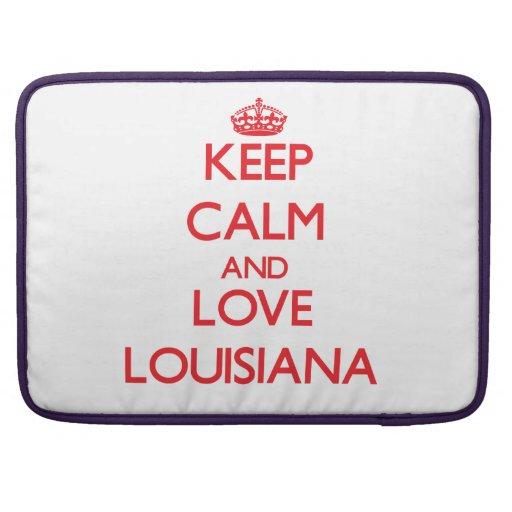Guarde la calma y ame Luisiana Funda Para Macbooks