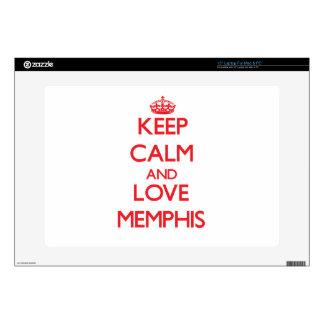 Guarde la calma y ame Memphis Portátil 38,1cm Skin