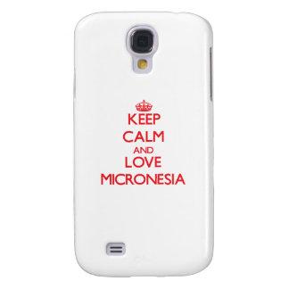 Guarde la calma y ame Micronesia Funda Para Galaxy S4