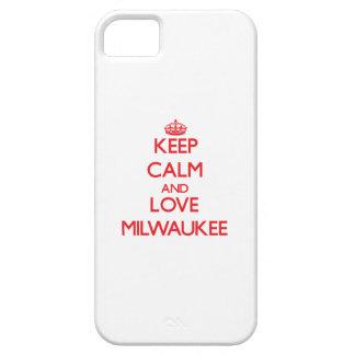 Guarde la calma y ame Milwaukee iPhone 5 Case-Mate Carcasas