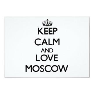 Guarde la calma y ame Moscú Invitación
