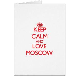 Guarde la calma y ame Moscú Tarjeton