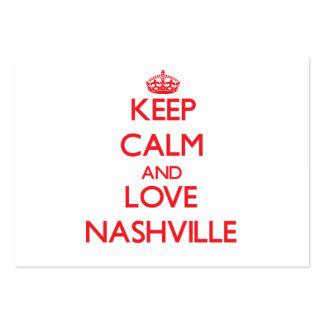 Guarde la calma y ame Nashville Tarjetas De Visita Grandes