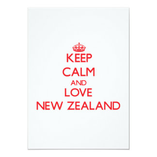 Guarde la calma y ame Nueva Zelanda