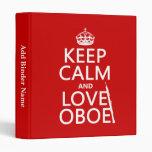 Guarde la calma y ame Oboe (cualquier color de fon
