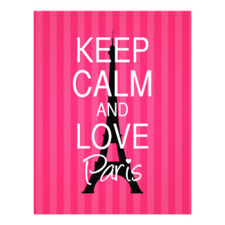 Guarde la calma y ame París Membrete A Diseño