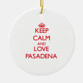 Guarde la calma y ame Pasadena Ornamentos De Reyes Magos