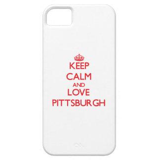 Guarde la calma y ame Pittsburgh iPhone 5 Case-Mate Protector